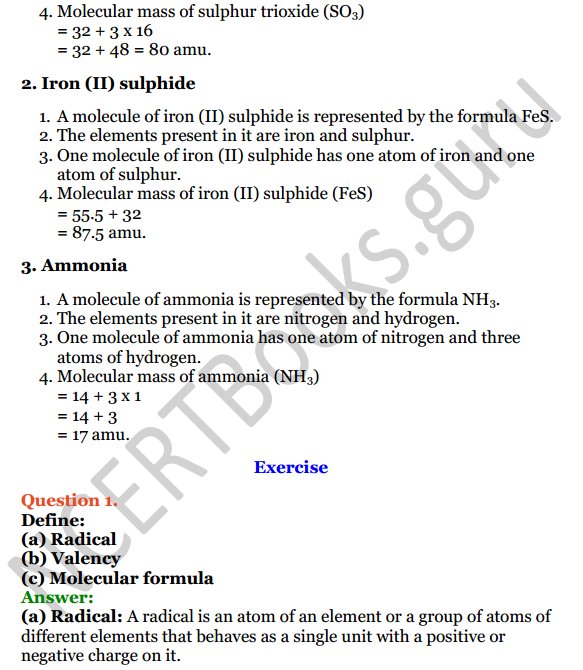 Selina Concise Chemistry Class 8 ICSE Solutions Chapter 5 Language of Chemistry 3