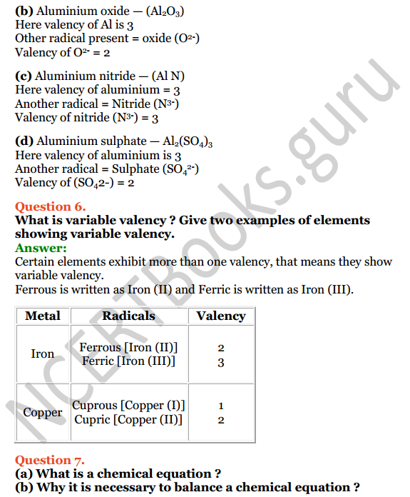 Selina Concise Chemistry Class 8 ICSE Solutions Chapter 5 Language of Chemistry 6
