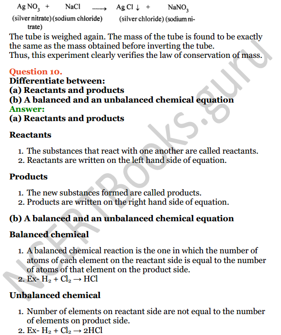 Selina Concise Chemistry Class 8 ICSE Solutions Chapter 5 Language of Chemistry 9