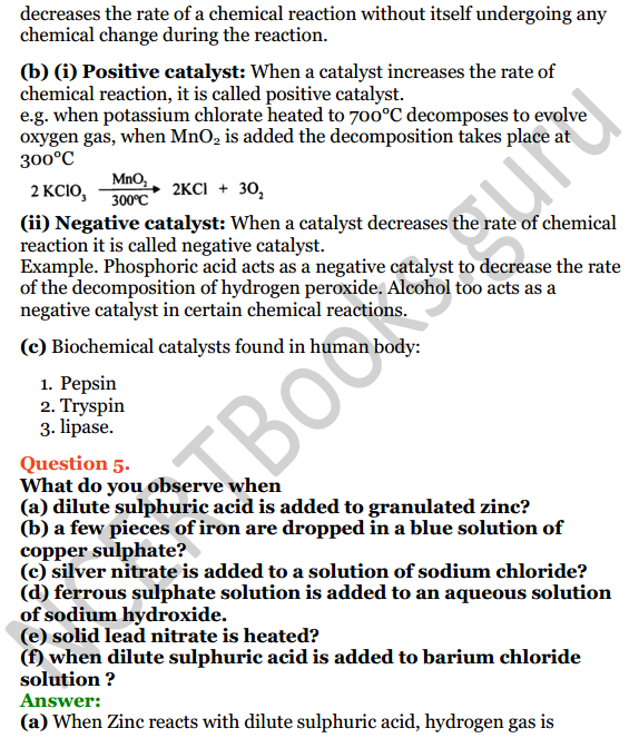 Selina Concise Chemistry Class 8 ICSE Solutions Chapter 6 Chemical Reactions 4