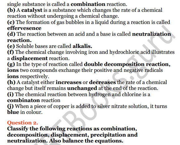 Selina Concise Chemistry Class 8 ICSE Solutions Chapter 6 Chemical Reactions 7