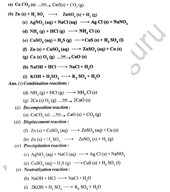 Selina Concise Chemistry Class 8 ICSE Solutions Chapter 6 Chemical Reactions 8
