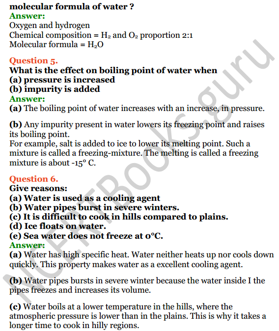 Selina Concise Chemistry Class 8 ICSE Solutions Chapter 8 Water 2