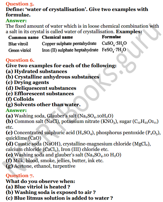 Selina Concise Chemistry Class 8 ICSE Solutions Chapter 8 Water 6
