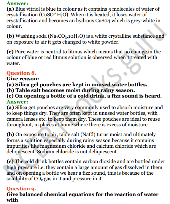Selina Concise Chemistry Class 8 ICSE Solutions Chapter 8 Water 7