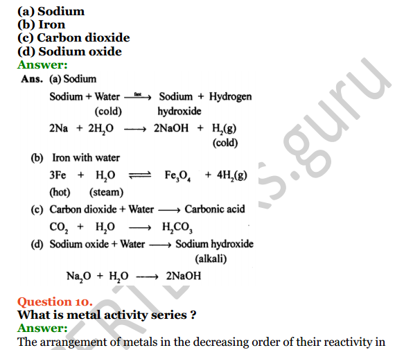 Selina Concise Chemistry Class 8 ICSE Solutions Chapter 8 Water 8