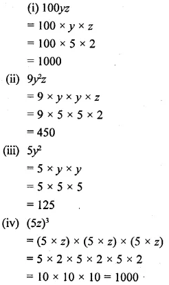 Selina Concise Mathematics Class 6 ICSE Solutions Chapter 21 Framing Algebraic Expressions 16