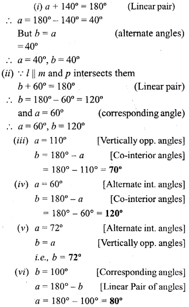 Selina Concise Mathematics Class 6 ICSE Solutions Chapter 25 Properties of Angles and Lines Ex 25B 7