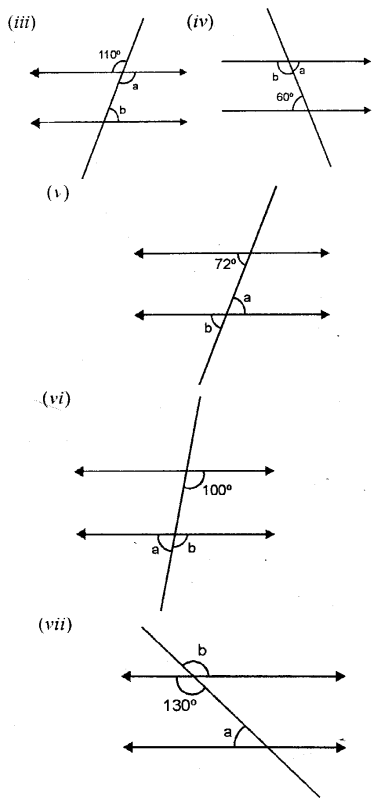 Selina Concise Mathematics Class 6 ICSE Solutions Chapter 25 Properties of Angles and Lines Ex 25B Q2.1