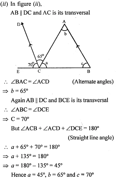 Selina Concise Mathematics Class 6 ICSE Solutions Chapter 25 Properties of Angles and Lines Rev Ex 36
