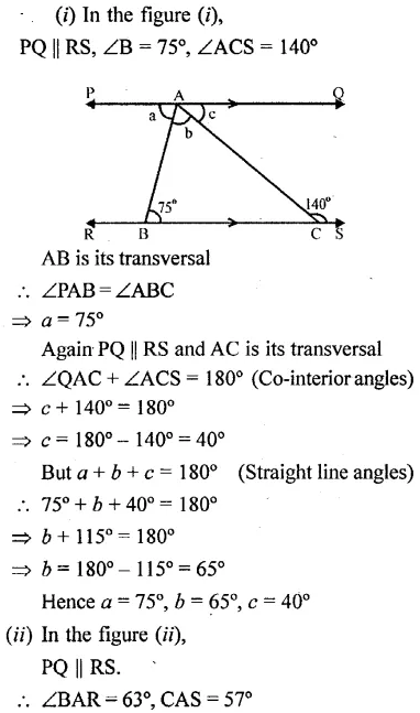 Selina Concise Mathematics Class 6 ICSE Solutions Chapter 25 Properties of Angles and Lines Rev Ex 37