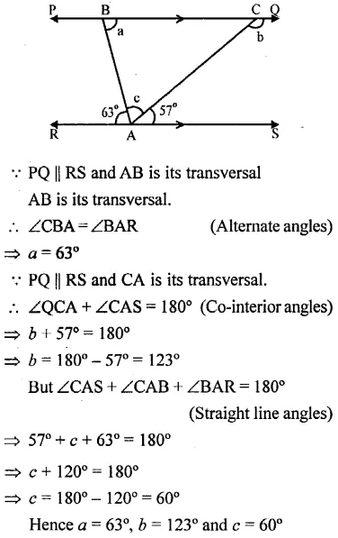Selina Concise Mathematics Class 6 ICSE Solutions Chapter 25 Properties of Angles and Lines Rev Ex 38