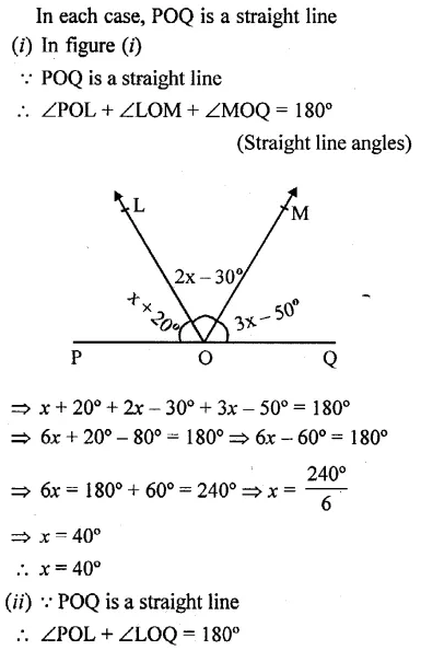 Selina Concise Mathematics Class 6 ICSE Solutions Chapter 25 Properties of Angles and Lines Rev Ex 42