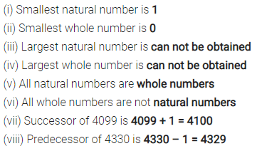 Selina Concise Mathematics Class 6 ICSE Solutions Chapter 5 Natural Numbers and Whole Numbers Ex 5A 1