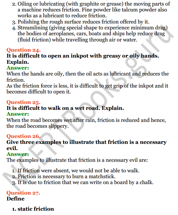 Selina Concise Physics Class 6 ICSE Solutions Chapter 3 Force 10