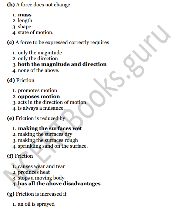 Selina Concise Physics Class 6 ICSE Solutions Chapter 3 Force 3