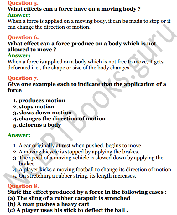 Selina Concise Physics Class 6 ICSE Solutions Chapter 3 Force 5