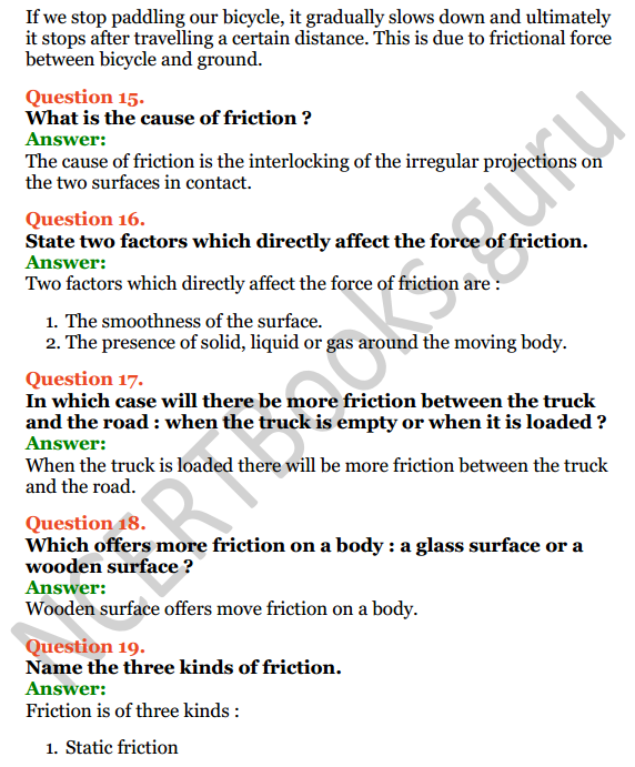 Selina Concise Physics Class 6 ICSE Solutions Chapter 3 Force 8