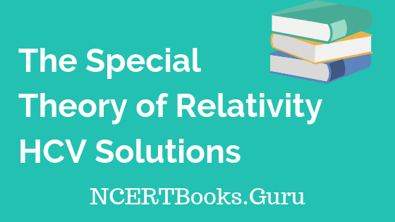 The Special Theory of Relativity HCV Solutions