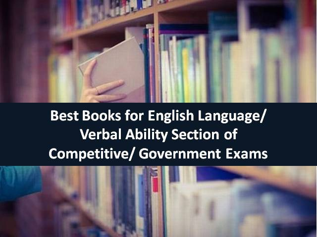 Best Books for English Language Verbal Ability Section of Competitive Govt Exams