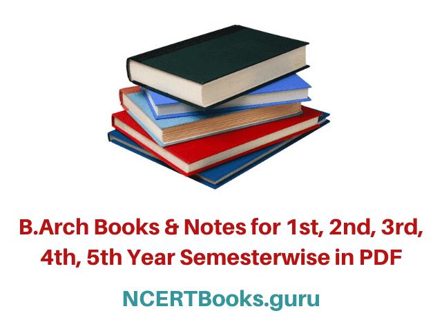 B.Arch Books