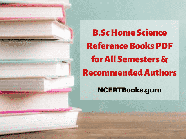 B.Sc Home Science Reference Books