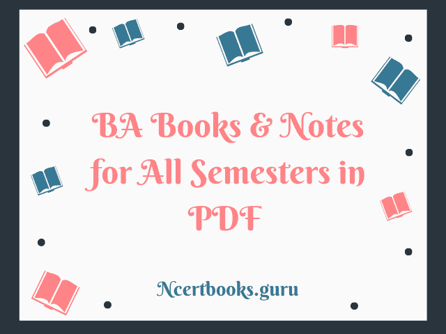 BA books & study materials for all semesters in pDF