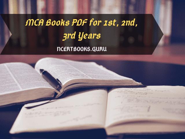MCA Books in PDF for All semesters