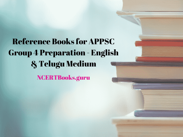 Reference Books for APPSC Group 4