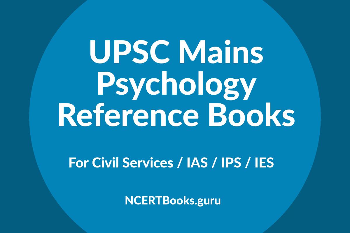 UPSC Mains Psychology Reference Books