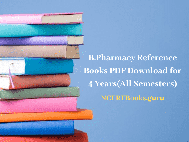 B.Pharmacy Reference Books
