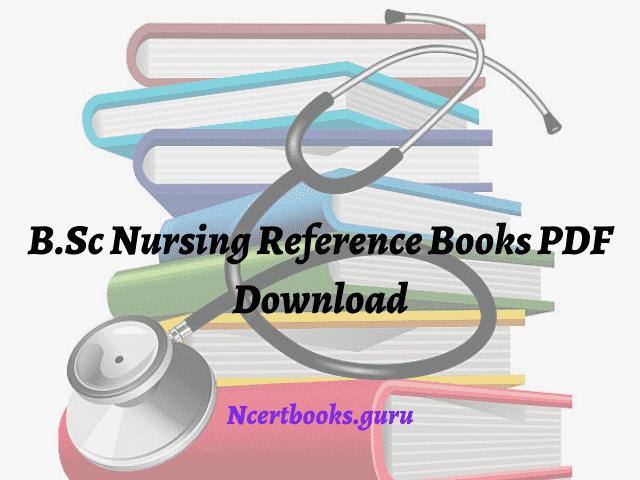 B.Sc Nursing Reference Books