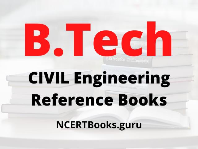 B.Tech Civil Engineering Reference Books
