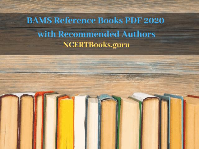 BAMS Reference Books