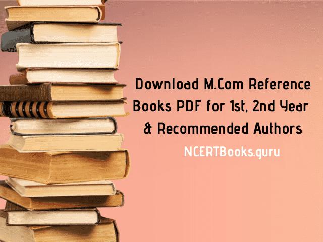 M.Com Reference Books