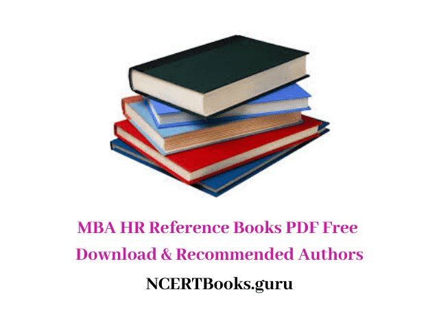 MBA HR Reference Books PDF
