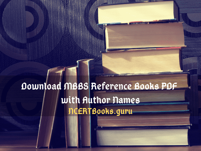 MBBS Reference Books PDF