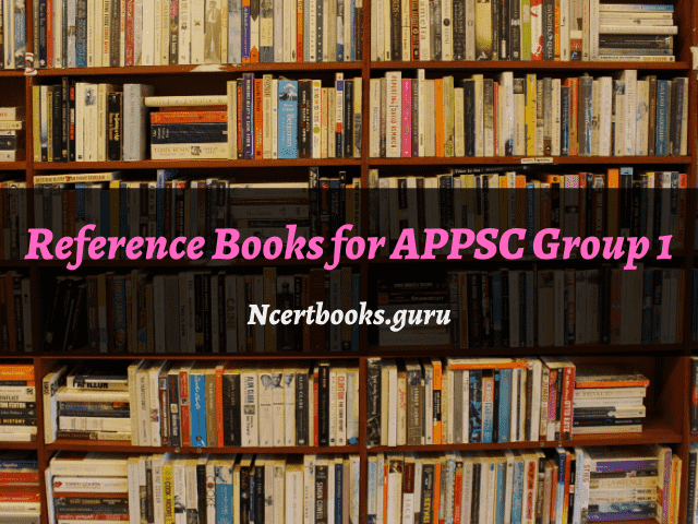 Reference Books for APPSC Group 1