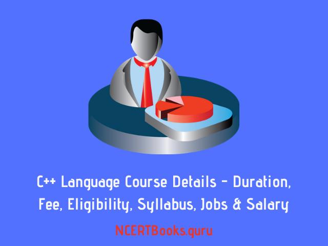 C++ Language Course Details