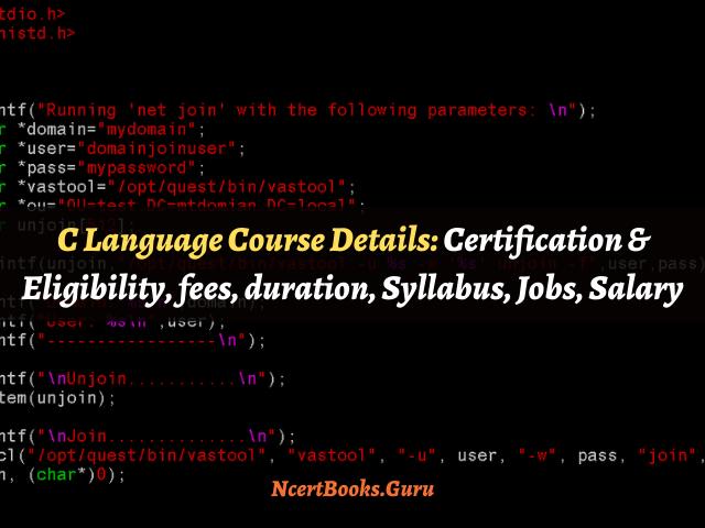 C language course details