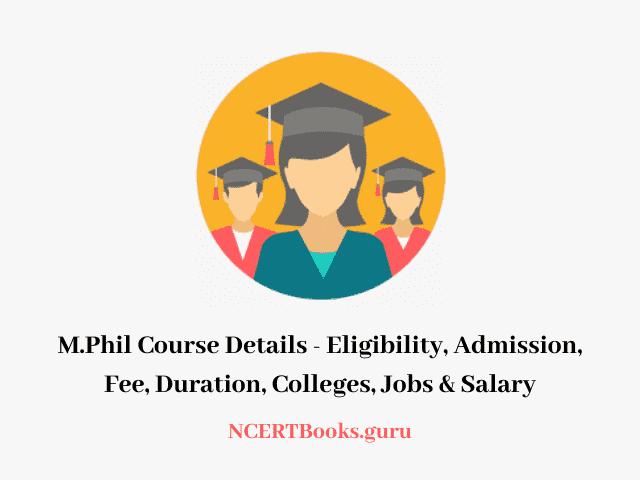 M.Phil Course Details