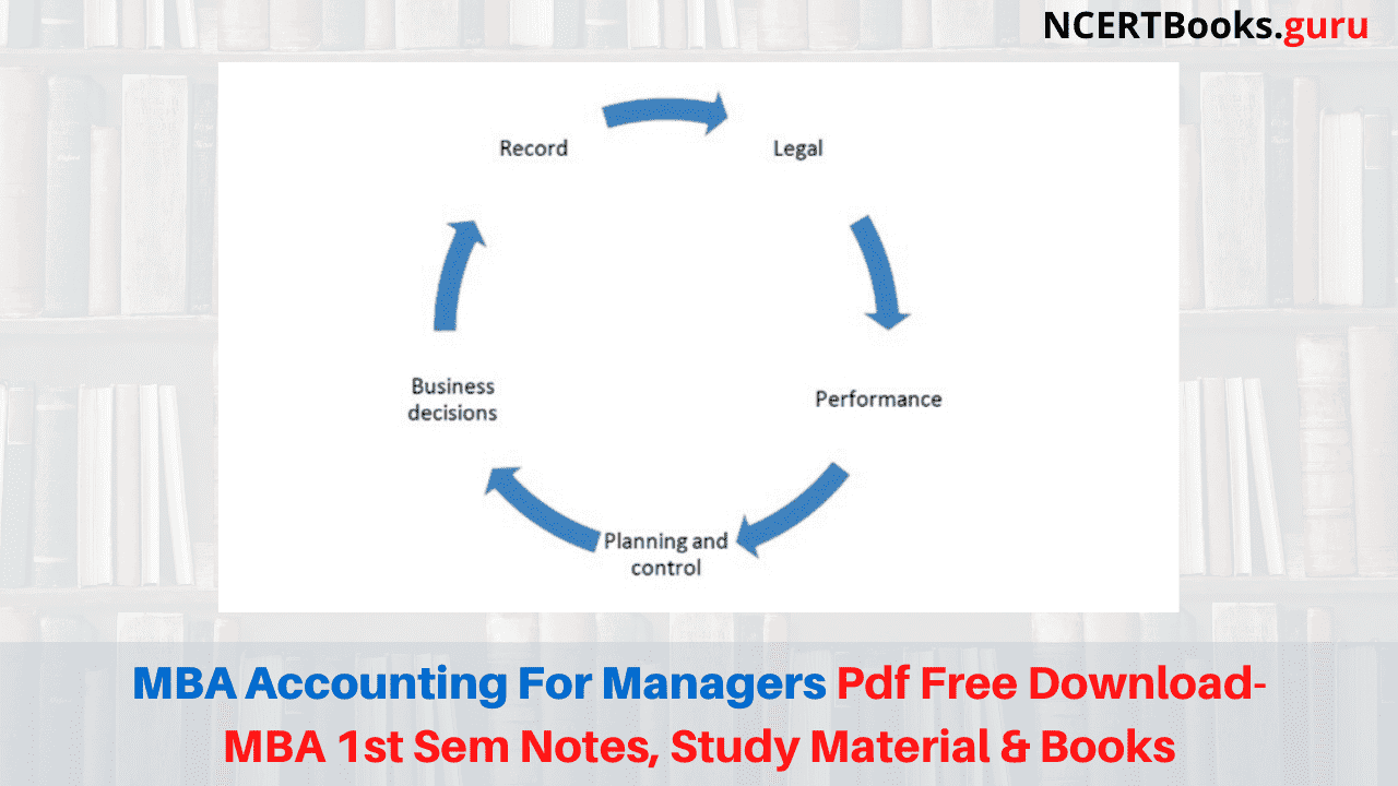 MBA Accounting for Managers