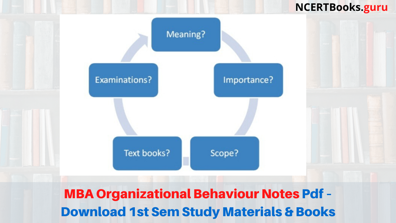 MBA Organizational Behaviour Notes