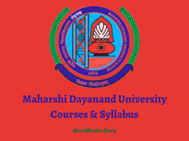 Maharshi Dayanand University Courses And Syllabus