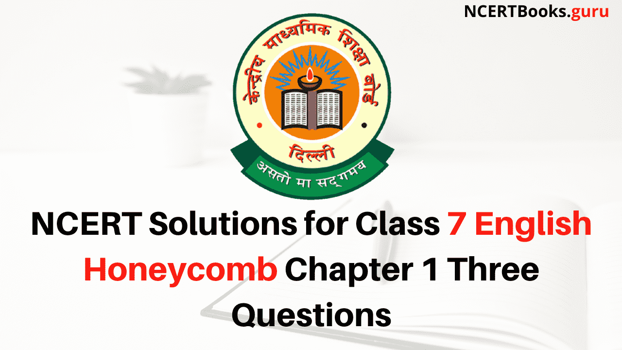 Ncert Solutions For Class 7 English Honeycomb Chapter 1 Three Questions Ncert Books [ 720 x 1280 Pixel ]