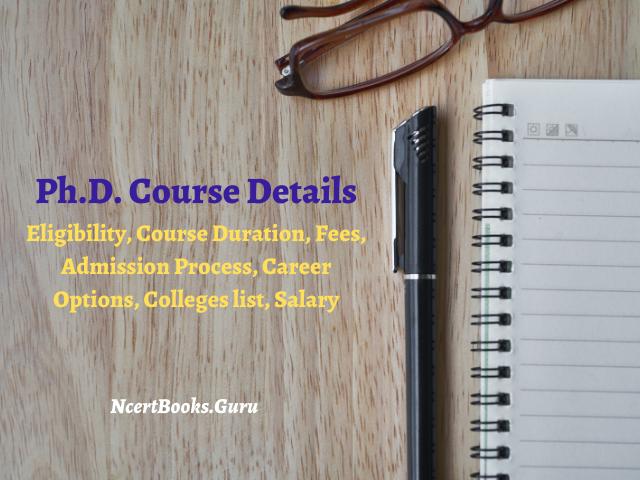 Ph.D. Course Details