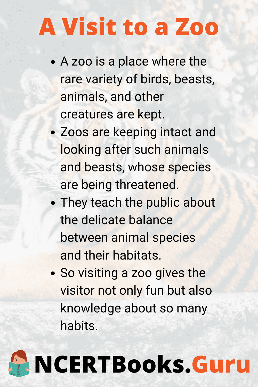 Essay on a Visit to a Zoo