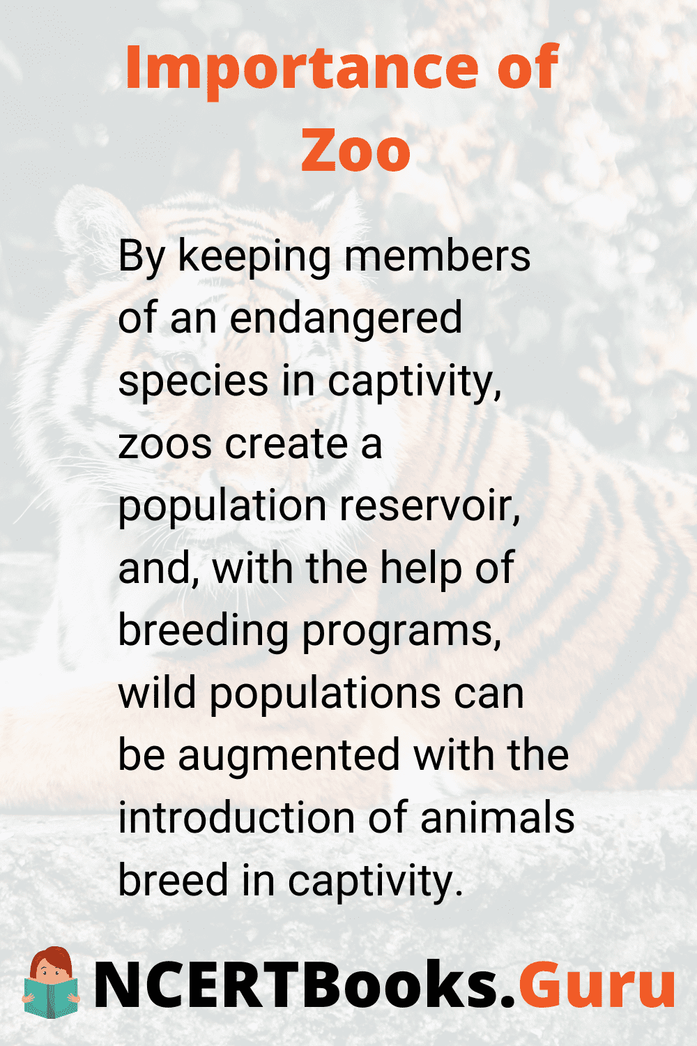 Importance of Zoo