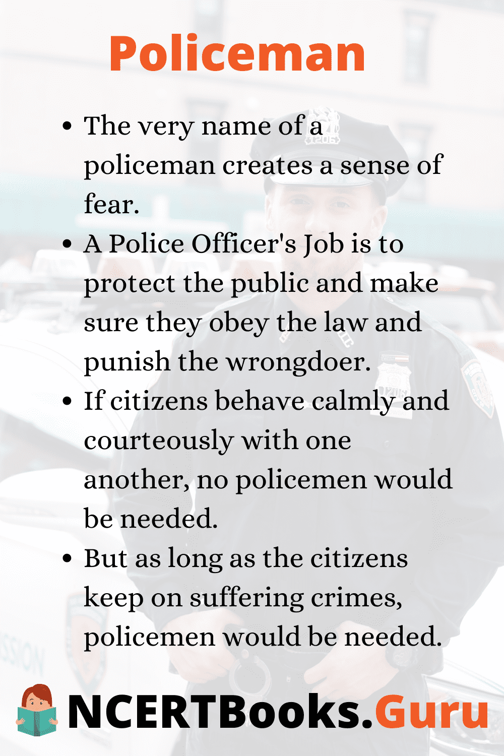 Small essay on policeman assignment instructions