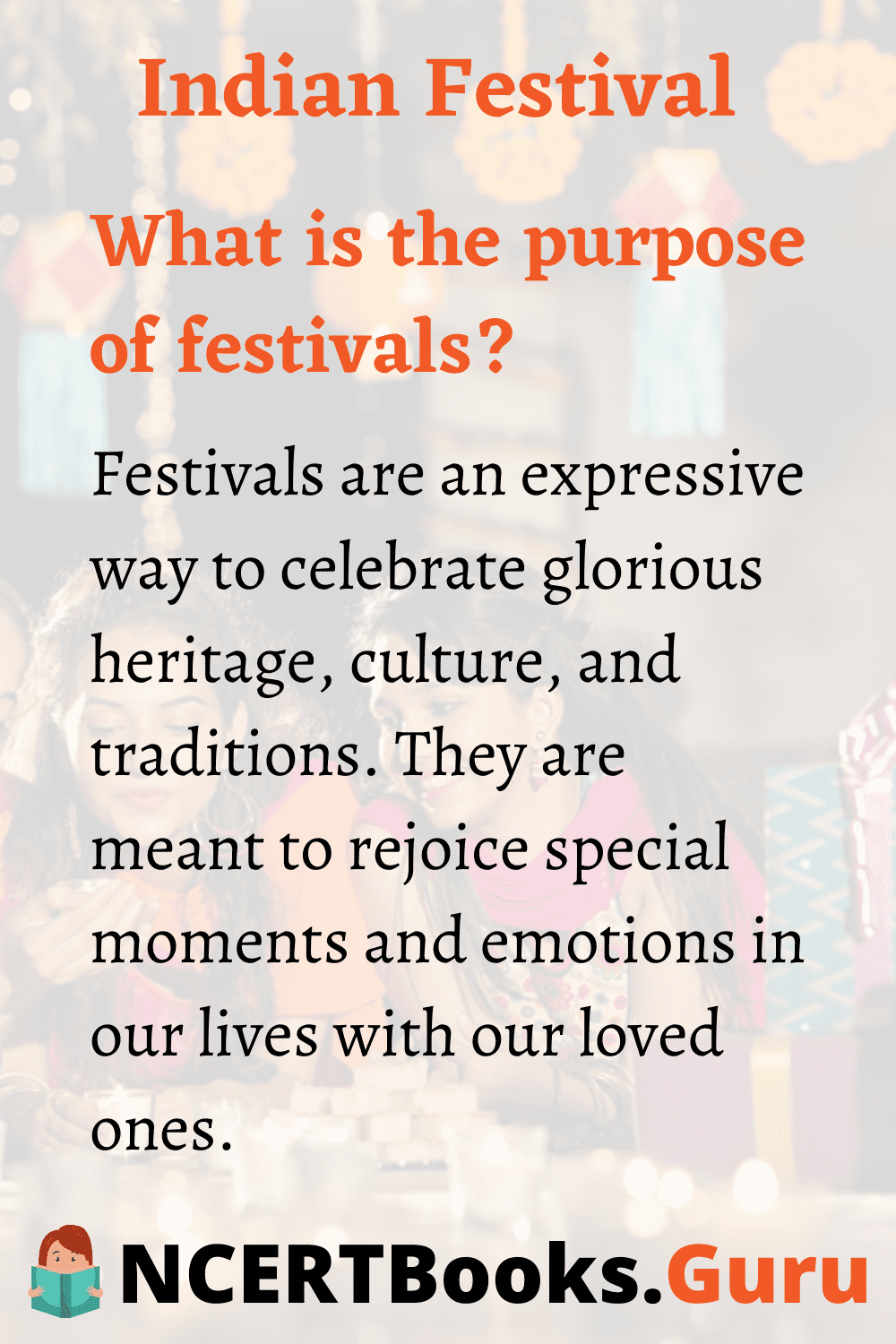 Purpose of Festivals